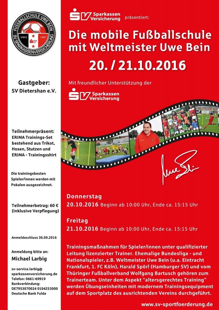 Uwe Bein kommt mit mobiler Fußballschule nach Dietershan