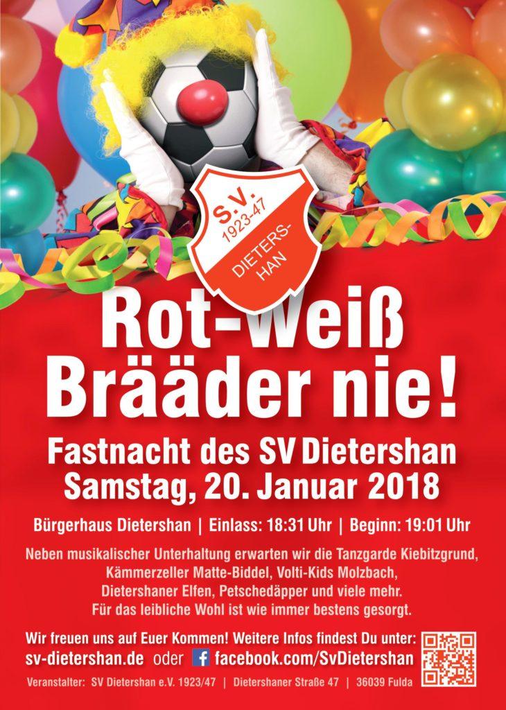 Fastnacht 2018 des Sportverein Dietershan am Samstag, den 20.01
