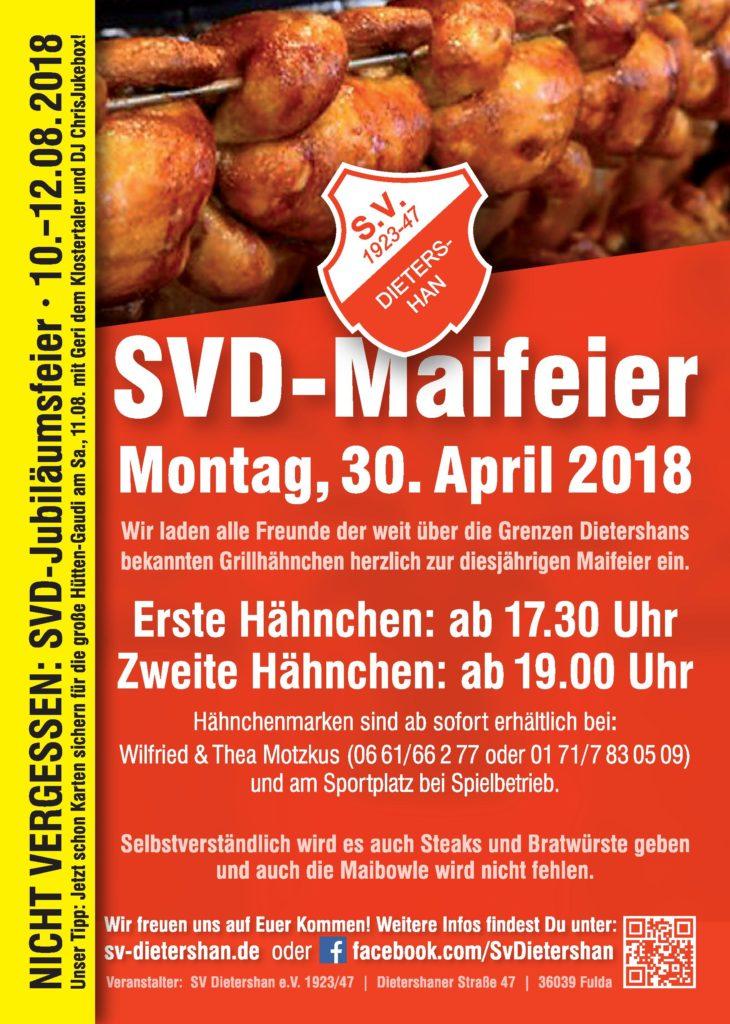 Maifeier des SV Dietershan am Montag, den 30. April