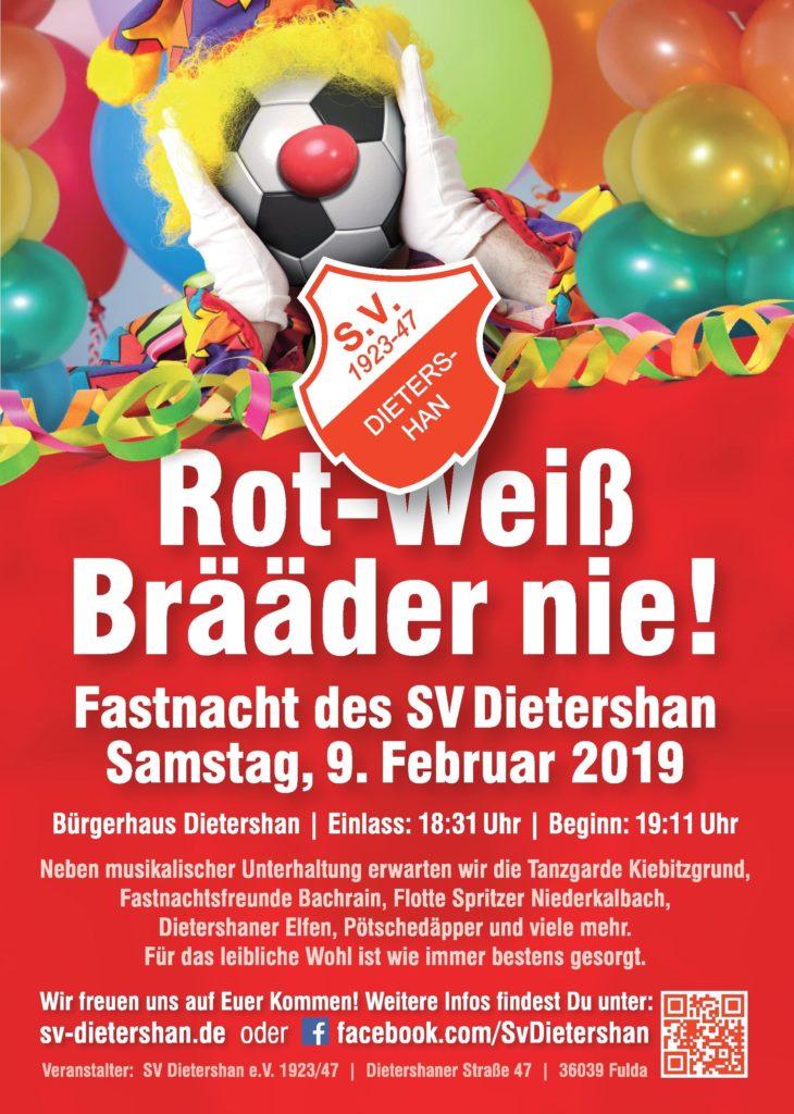Fastnacht 2019 des Sportverein Dietershan am Samstag, den 09.02