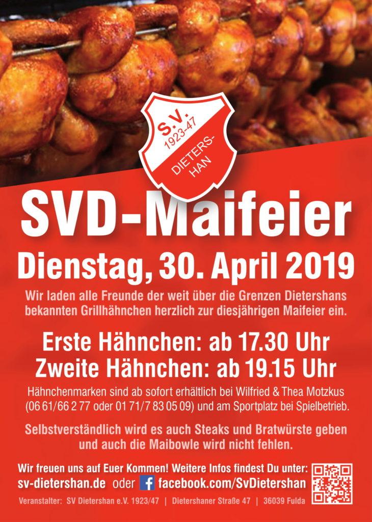 Maifeier des SV Dietershan am Dienstag, den 30. April